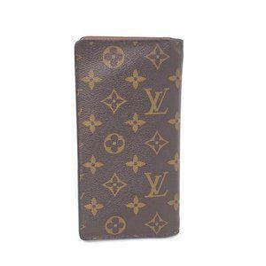 Auth Louis Vuitton Long Brazza Monogram Wallet